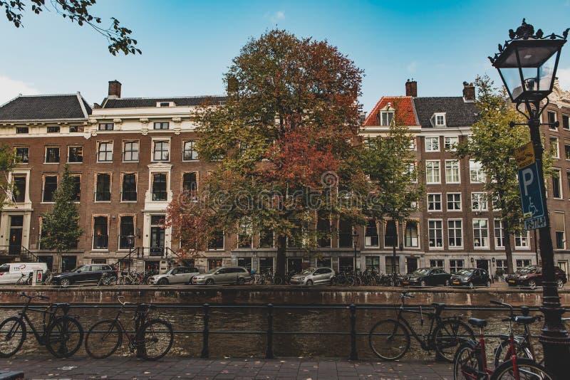 Manifesto di autunno da Amsterdam immagini stock libere da diritti
