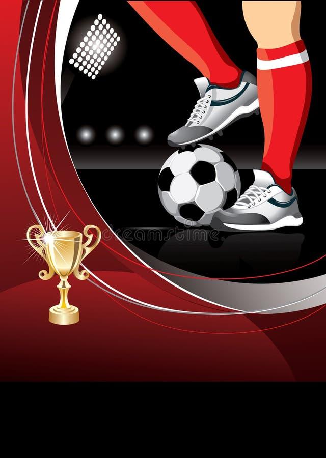 Manifesto di calcio illustrazione vettoriale