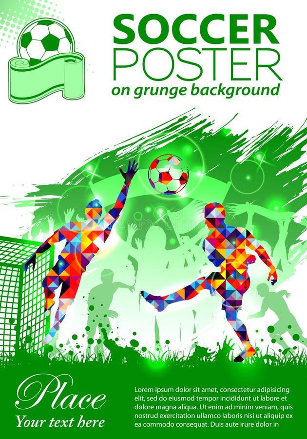 Manifesto di calcio royalty illustrazione gratis