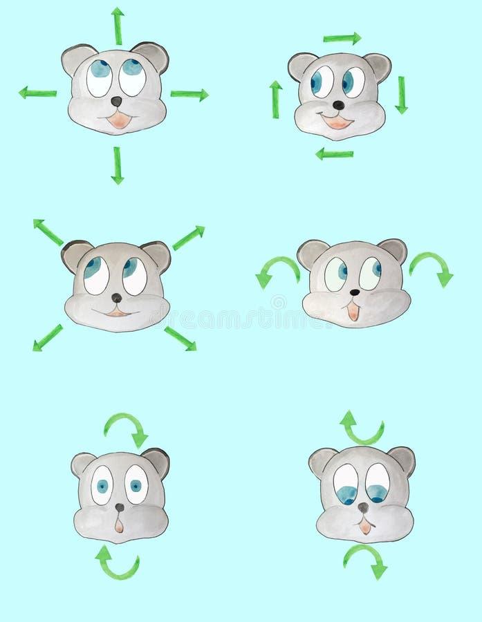 Manifesto di esercizio dell'occhio per oftalmologia royalty illustrazione gratis