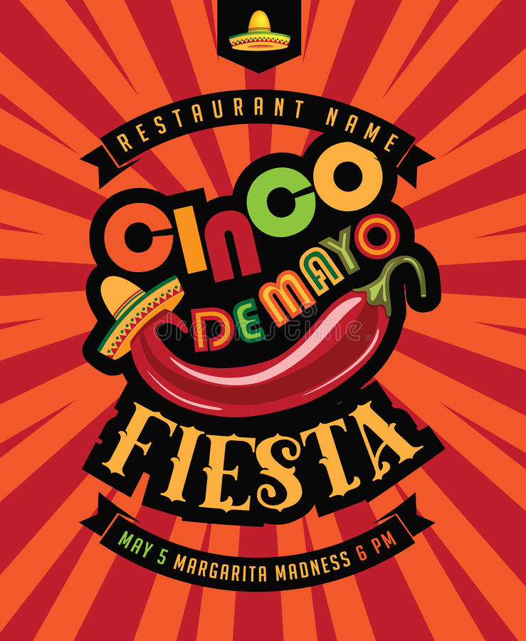 Manifesto di festa di Cinco De Mayo royalty illustrazione gratis