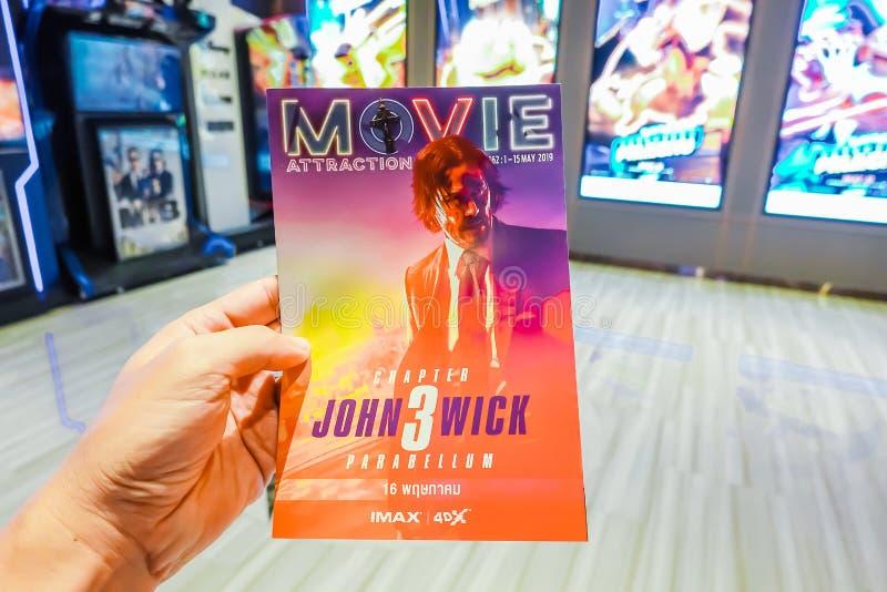 Manifesto di film della rappresentazione di John Wick Chapter 3 Parabellum al cinema immagine stock libera da diritti