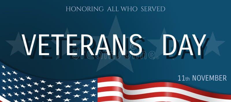 Manifesto di giornata dei veterani immagine stock