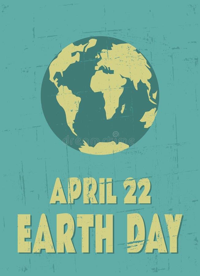 Manifesto di giornata per la Terra illustrazione vettoriale