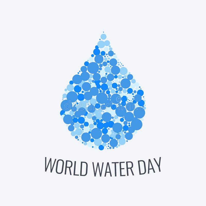 Manifesto di giorno dell'acqua del mondo illustrazione di stock