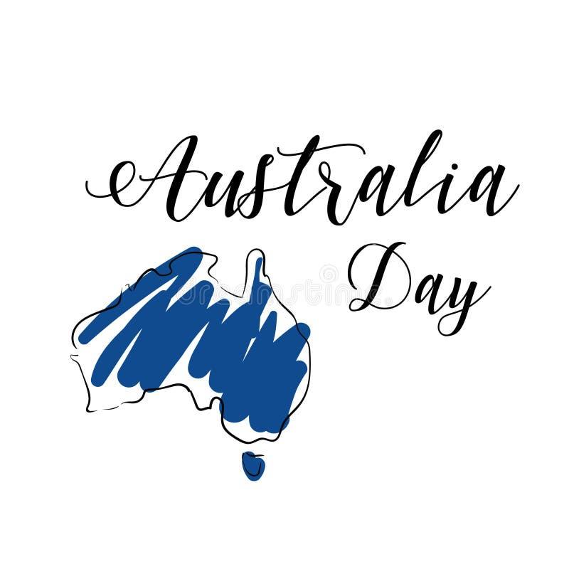 Manifesto di giorno dell'Australia illustrazione vettoriale