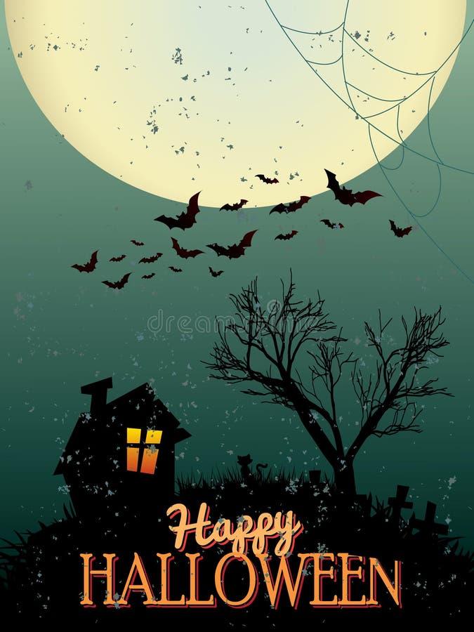 Manifesto di Halloween illustrazione di stock