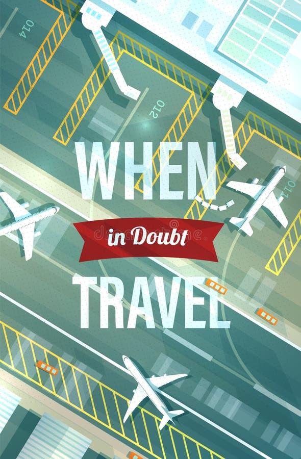 Manifesto di ispirazione di viaggio illustrazione vettoriale