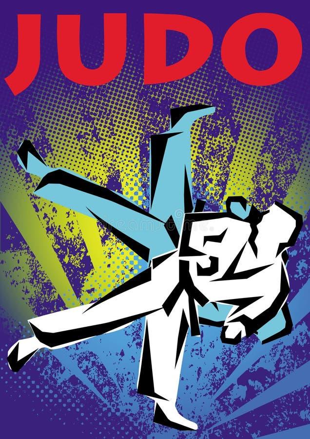 Manifesto di judo. Vettore. royalty illustrazione gratis