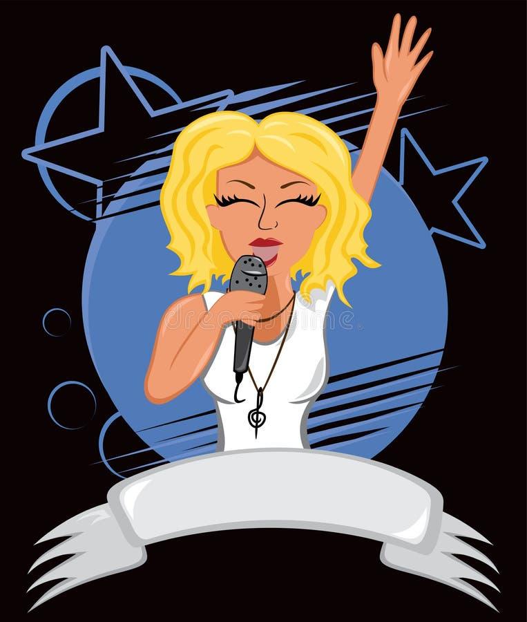 Manifesto di karaoke illustrazione di stock