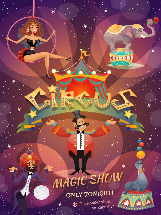 Manifesto di manifestazione del circo illustrazione vettoriale