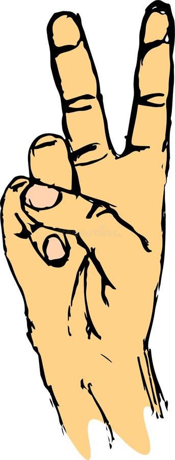 Manifesto di motivazione dell'iscrizione della mano di concetto di vittoria royalty illustrazione gratis
