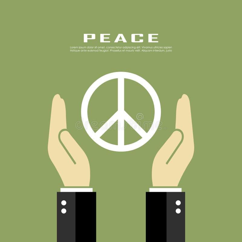 Manifesto di pace illustrazione di stock