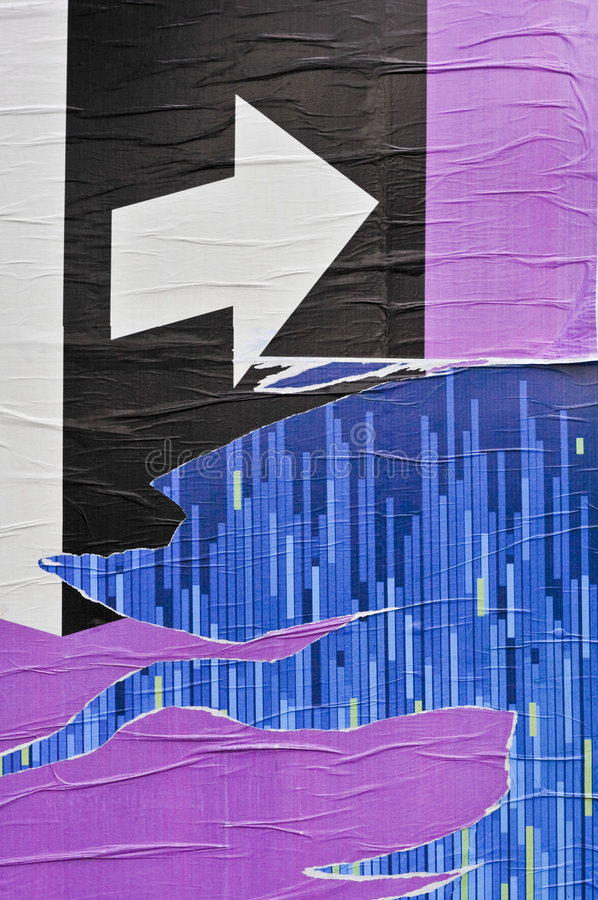 Manifesto di Paperwall immagini stock libere da diritti