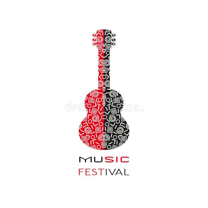 Manifesto di progettazione del modello: Festival di musica acustico illustrazione vettoriale
