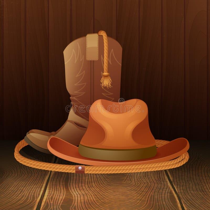 Manifesto di simbolo del cowboy illustrazione vettoriale