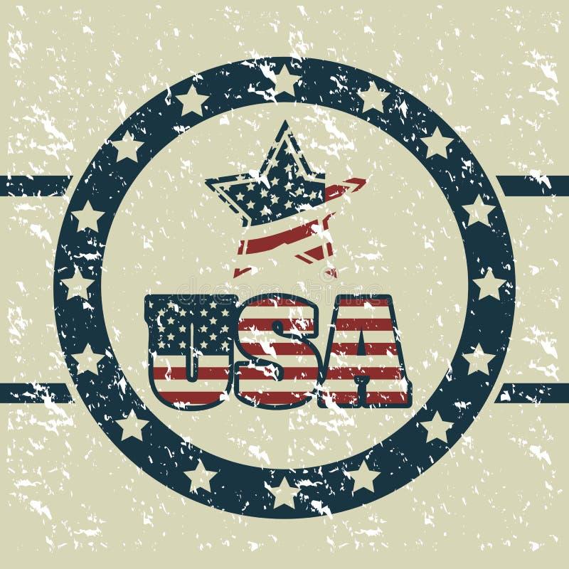 Download Manifesto di U.S.A. illustrazione vettoriale. Illustrazione di background - 30827894