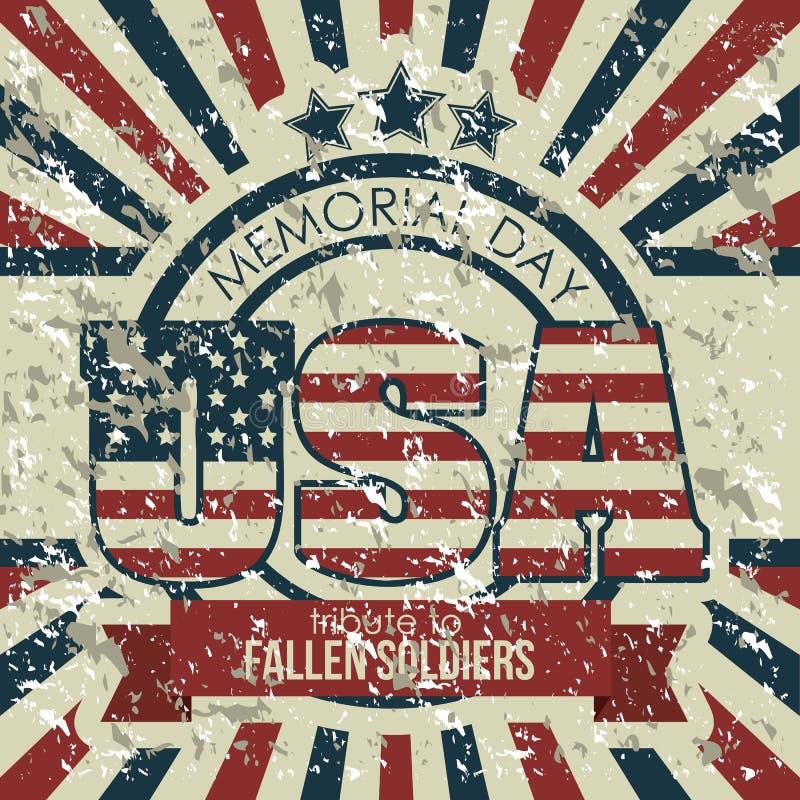 Download Manifesto di U.S.A. illustrazione vettoriale. Illustrazione di sporco - 30827897
