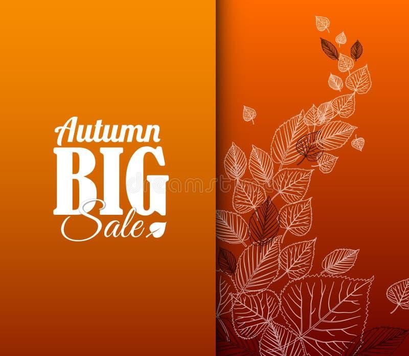 Manifesto di vendita di autunno retro illustrazione vettoriale