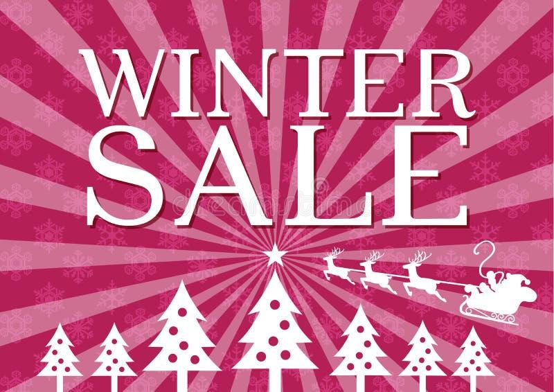 Manifesto di vendita di inverno illustrazione di stock