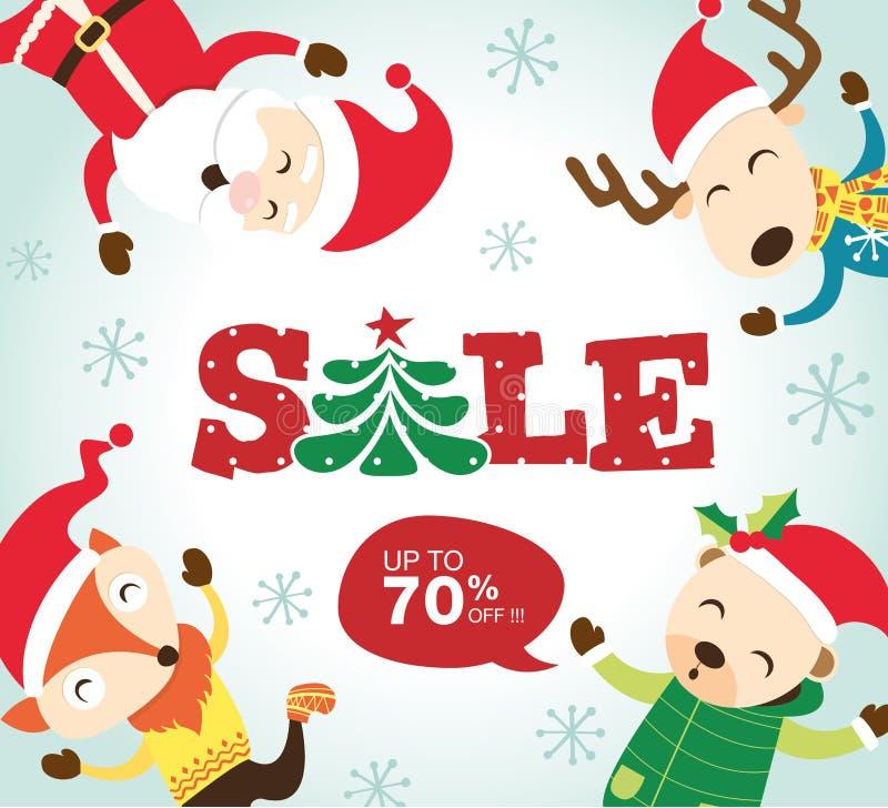 Manifesto di vendita di Natale royalty illustrazione gratis