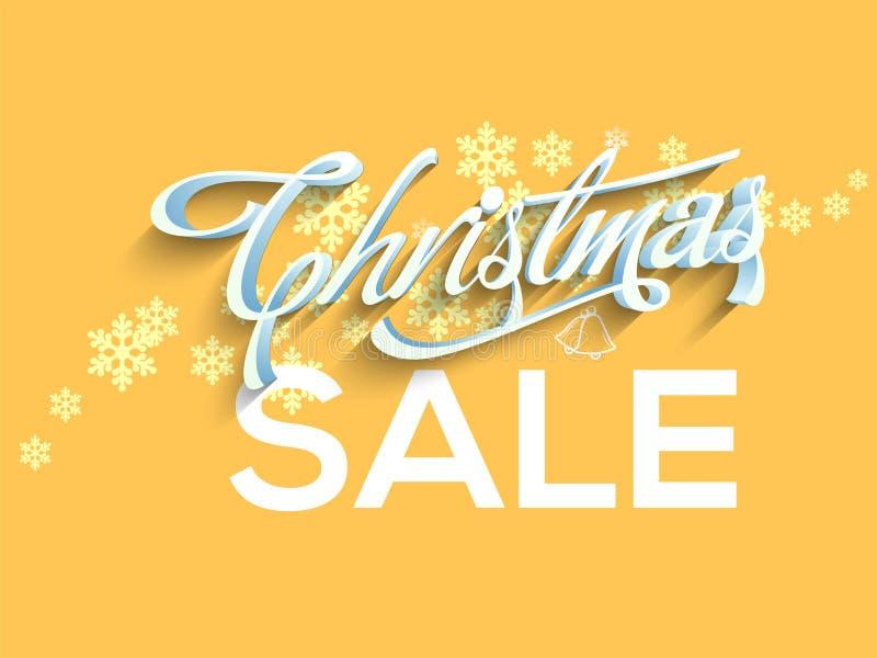Manifesto di vendita di Natale, progettazione dell'insegna royalty illustrazione gratis