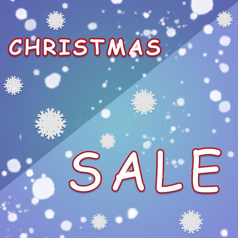 Manifesto di vendita di Natale illustrazione vettoriale