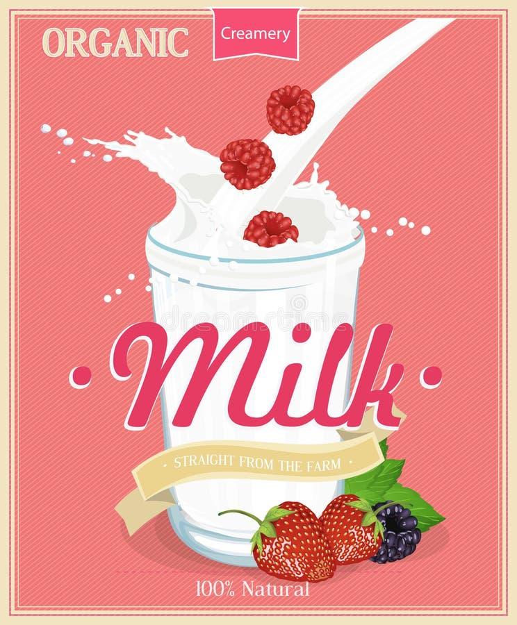 Manifesto di vettore con latte royalty illustrazione gratis