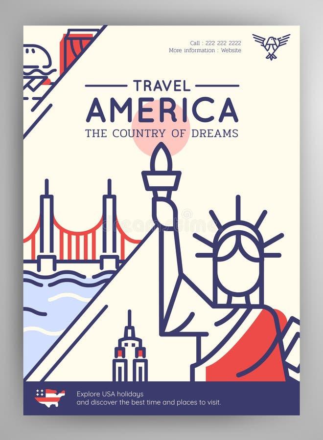 Manifesto di viaggio degli Stati Uniti d'America royalty illustrazione gratis