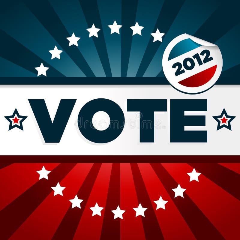 Manifesto di voto patriottico illustrazione vettoriale