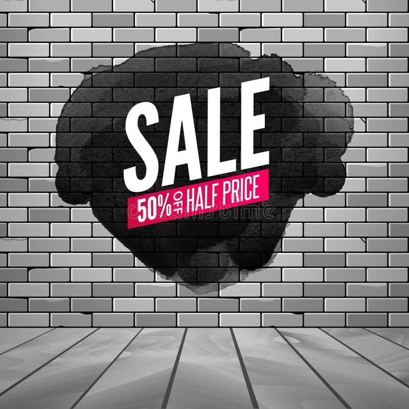 Manifesto eccellente della parete di vendita Fondo di vendita di lerciume per il deposito, negozio Manifesto di progettazione di  royalty illustrazione gratis