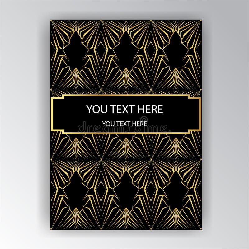 Manifesto elegante di novo di arte di Art Deco illustrazione di stock