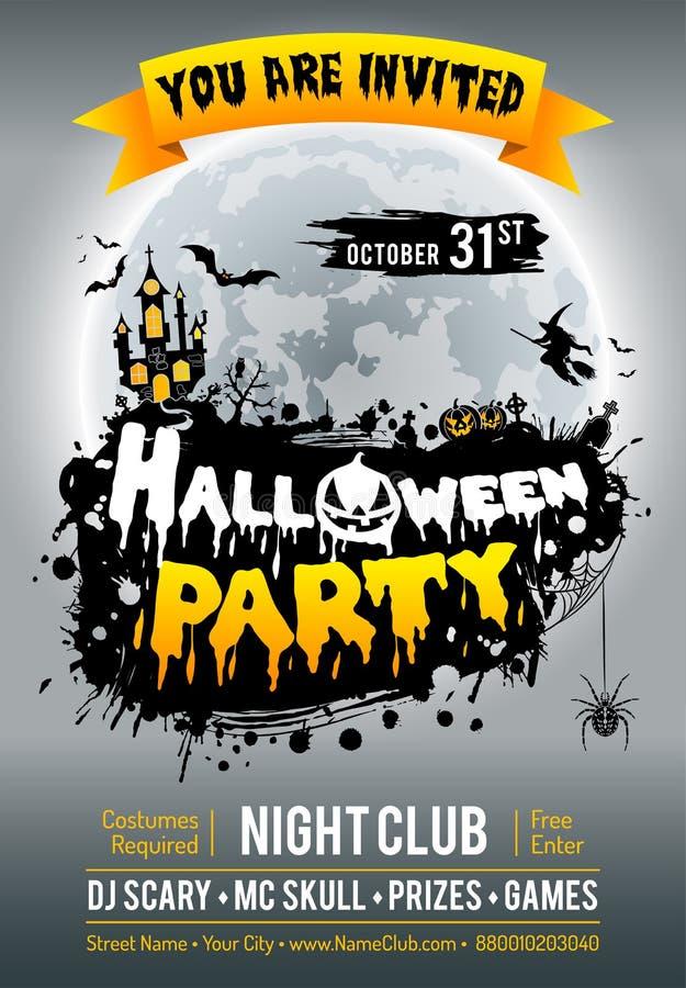 Manifesto felice del partito di Halloween illustrazione vettoriale