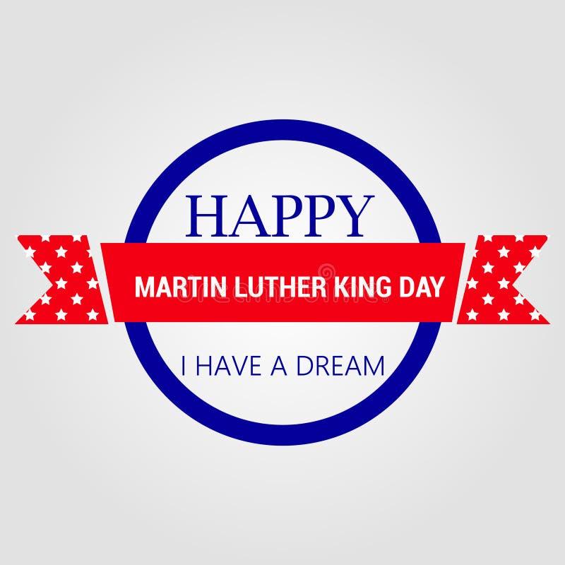 Manifesto felice della cartolina d'auguri di giorno di Martin Luther King royalty illustrazione gratis
