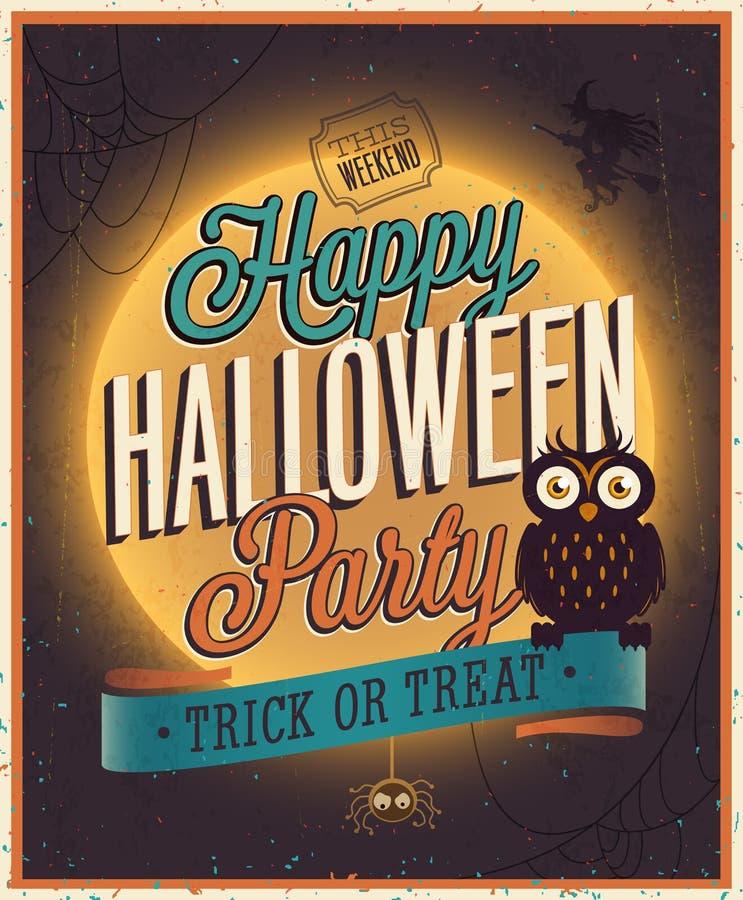 Manifesto felice di Halloween. illustrazione di stock