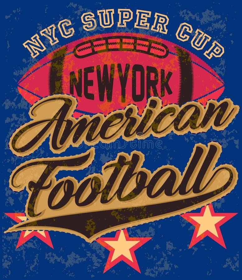 Manifesto grafico del T di football americano royalty illustrazione gratis