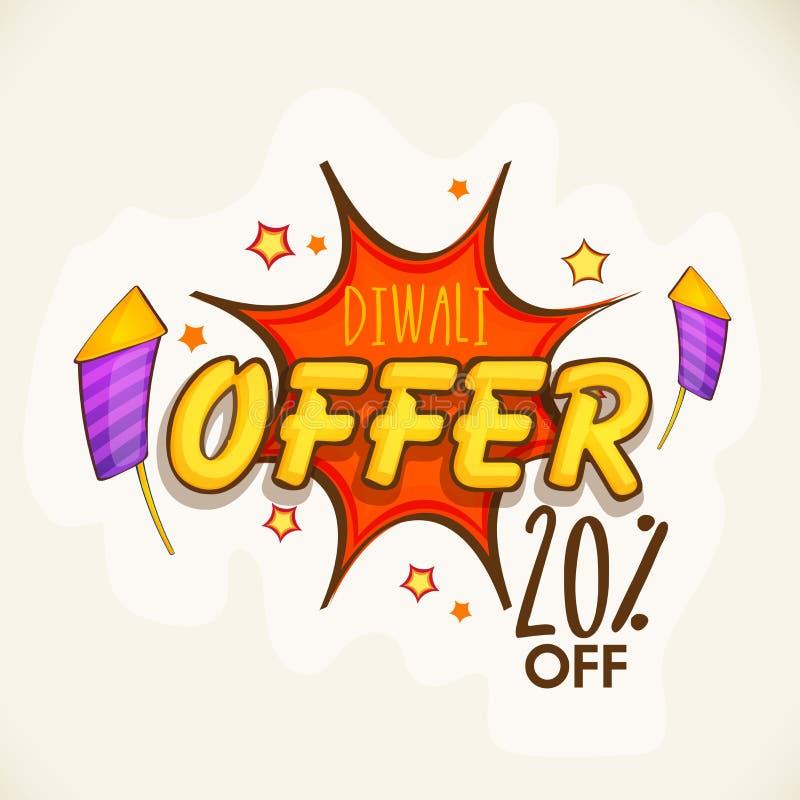 Manifesto, insegna o aletta di filatoio per l'offerta di Diwali illustrazione di stock