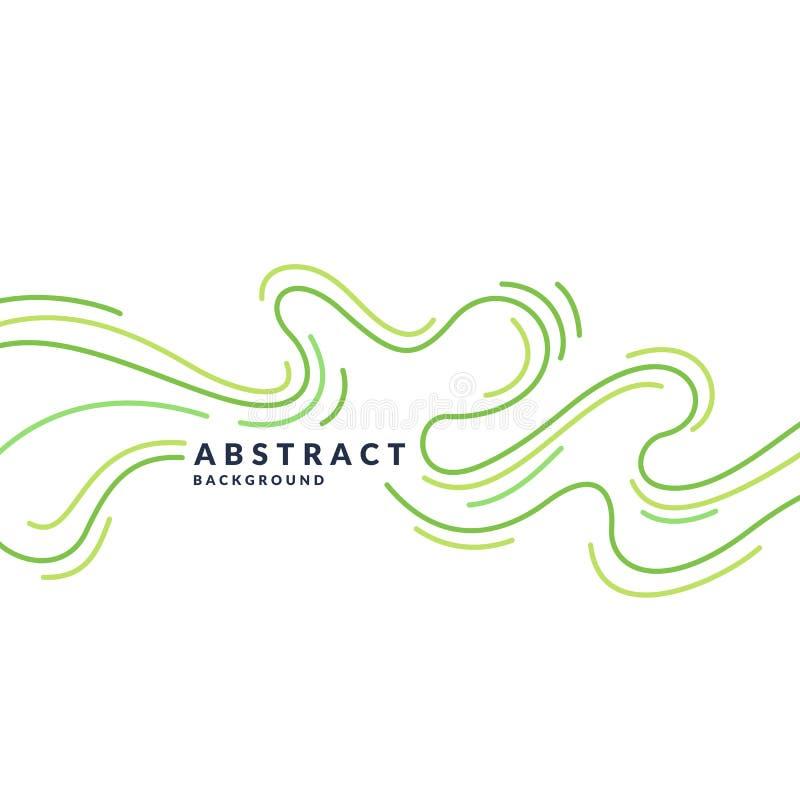 Manifesto luminoso con le onde dinamiche Stile piano minimo dell'illustrazione royalty illustrazione gratis