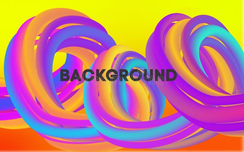 Manifesto luminoso del partito di estate Aletta di filatoio di notte del club Fondo astratto di musica delle onde di pendenze illustrazione vettoriale