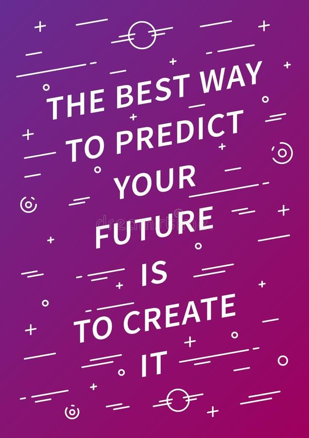 Manifesto motivazionale creativo insolito di vettore illustrazione di stock