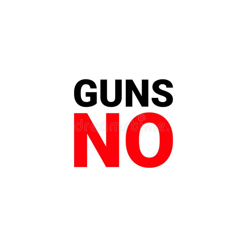 Manifesto nessun PISTOLE divieto delle armi raduno a sostegno di un divieto di pistole - L'archivio di vettore illustrazione di stock