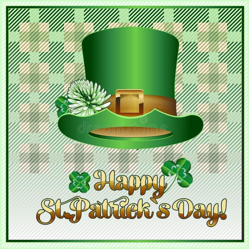 Manifesto o insegna della cartolina per il giorno del ` s di St Patrick immagine stock libera da diritti