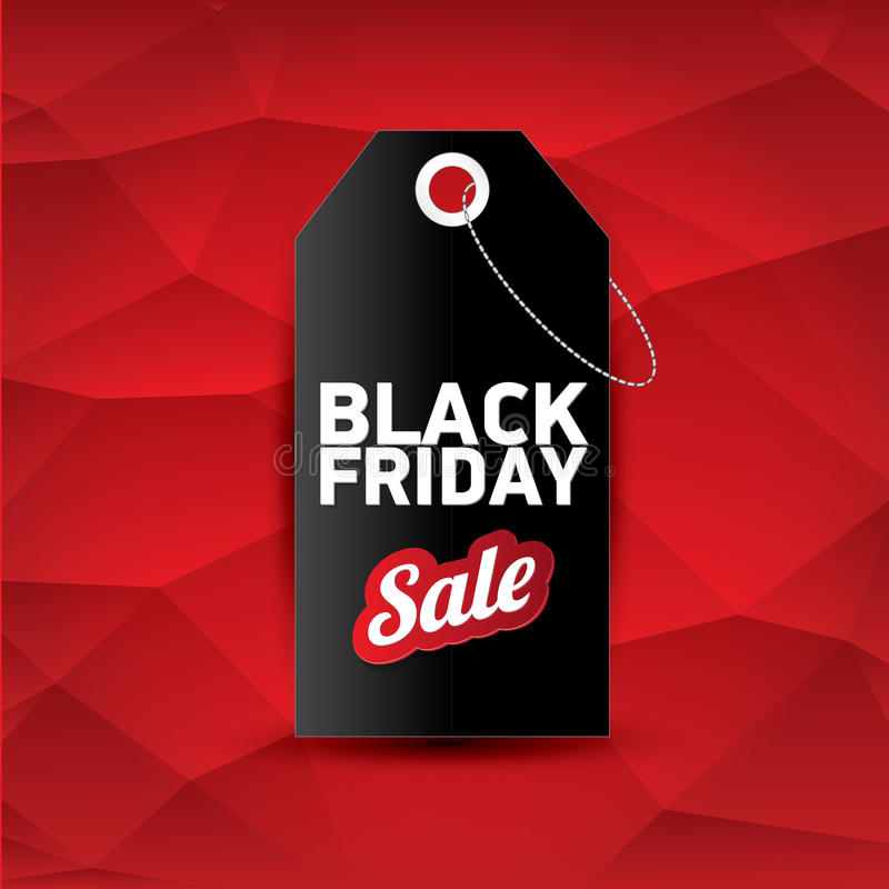 Manifesto o insegna di vendita di Black Friday di vettore royalty illustrazione gratis