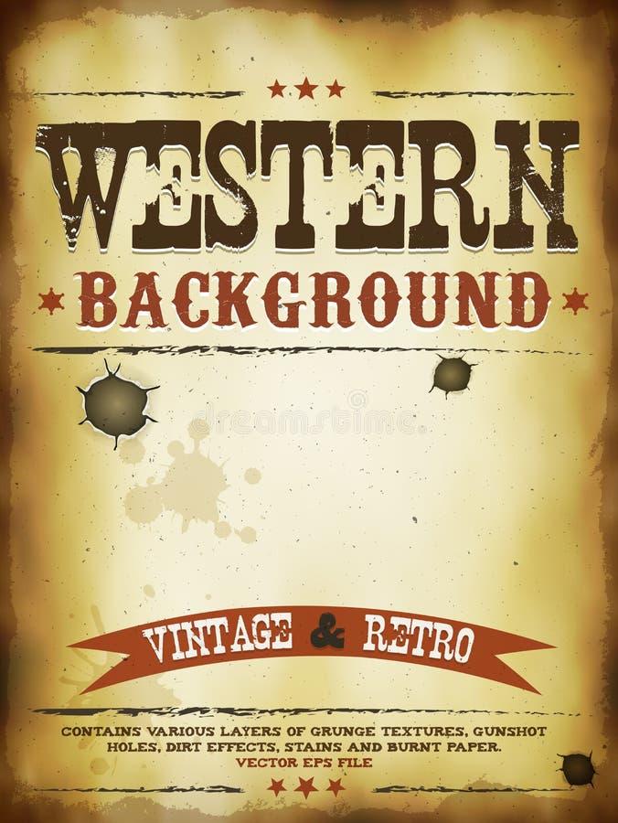 Manifesto occidentale di lerciume royalty illustrazione gratis