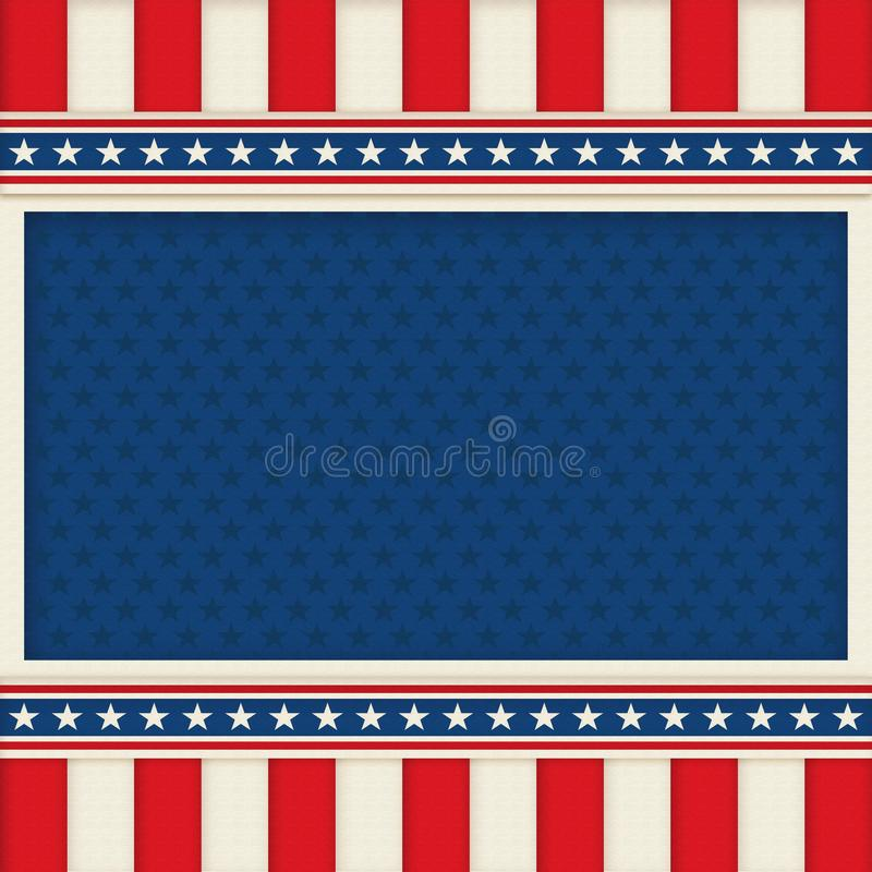 Manifesto patriottico Art Memorial Day del fondo il quarto luglio illustrazione di stock