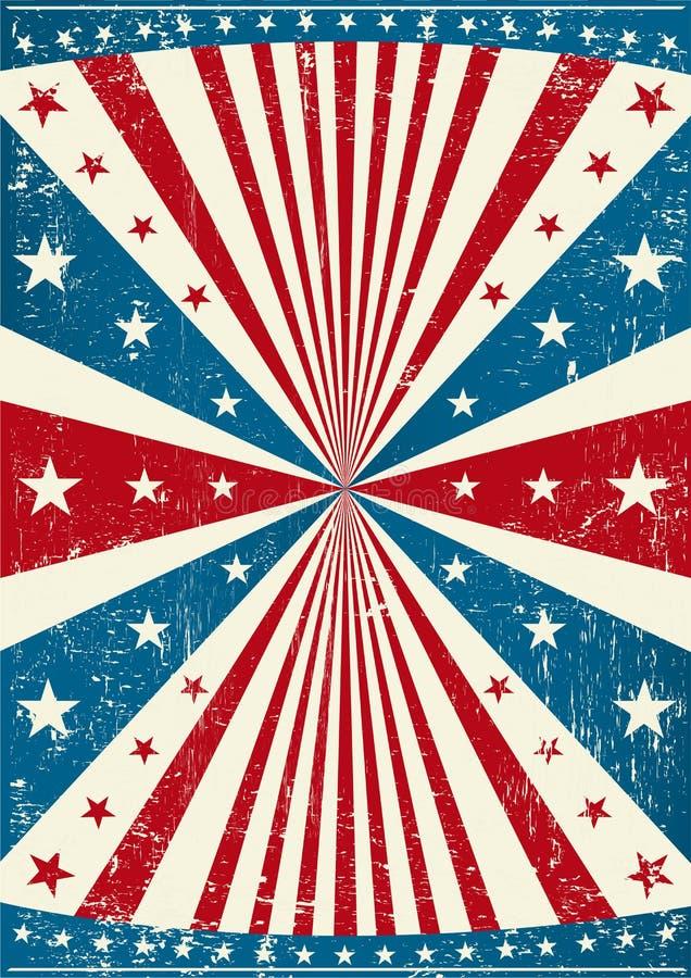 Manifesto patriottico di Grunge illustrazione vettoriale
