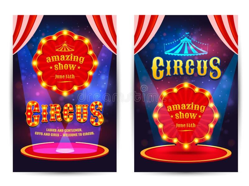 Manifesto per il circo royalty illustrazione gratis