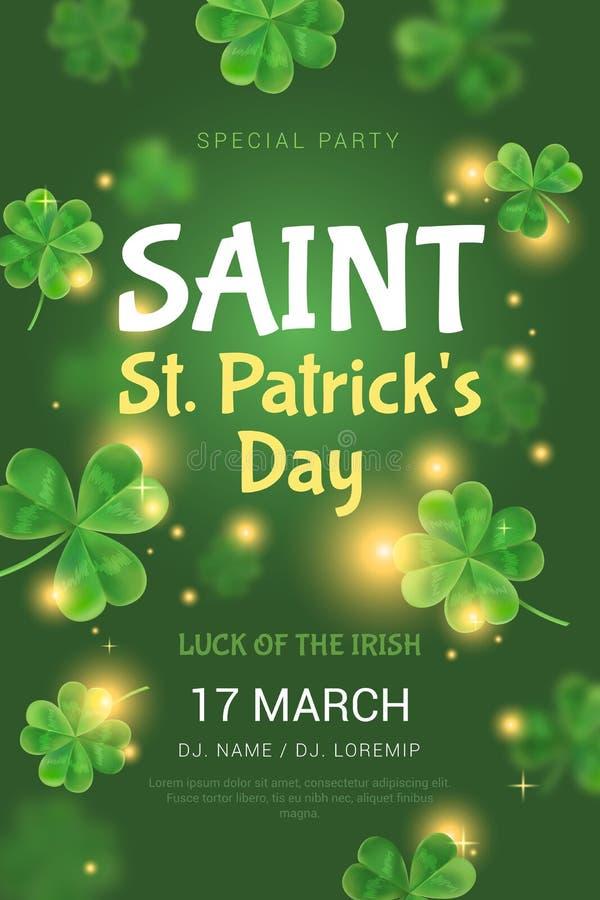 Manifesto per il partito del giorno di St Patrick illustrazione vettoriale