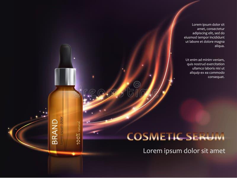 Manifesto per la promozione del prodotto premio antinvecchiamento cosmetico illustrazione vettoriale