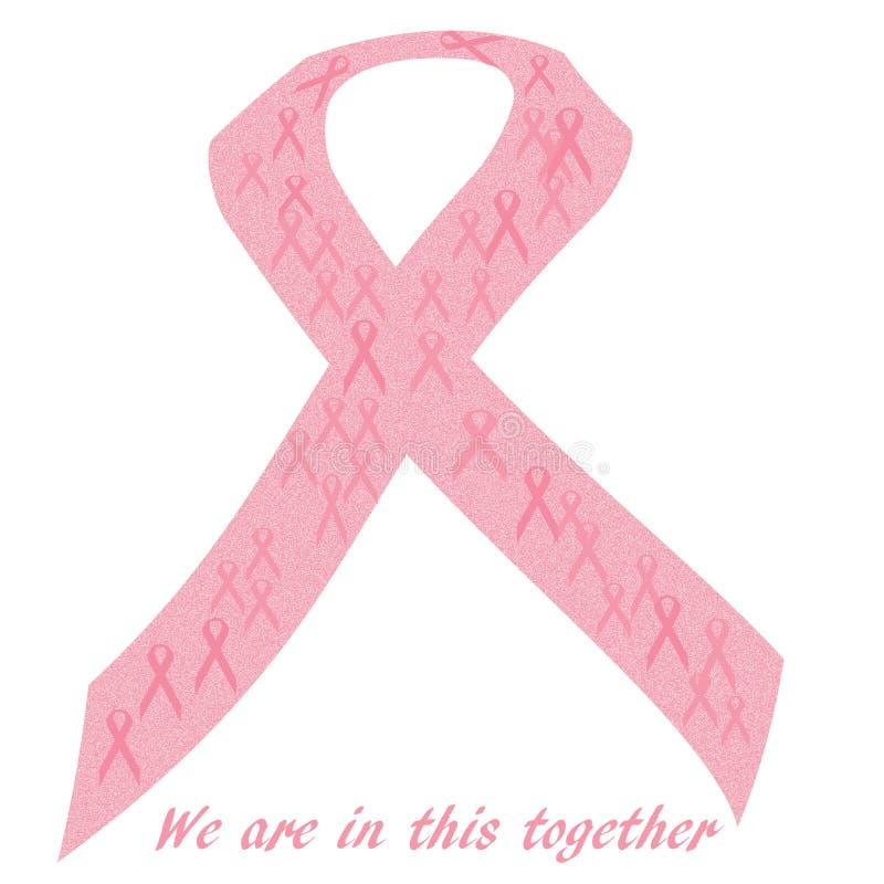 Manifesto rosa di sostegno del nastro illustrazione di stock